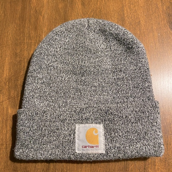 Carhartt Beanie Hat, Gray, Great Condition